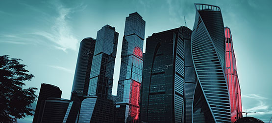Image of Russian finance district